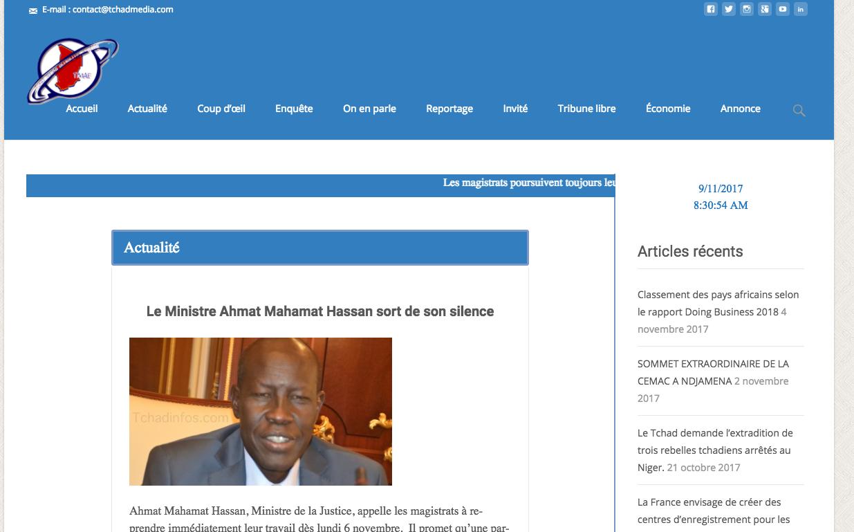 Presse digitale : Lancement d'un nouveau journal en ligne tchadmedia.com