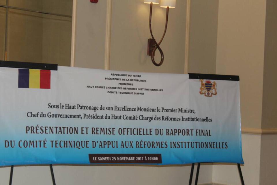 Tchad : remise du rapport final sur la réforme des institutions