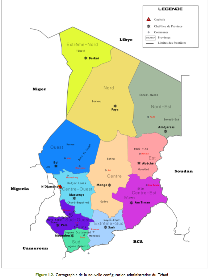 Tchad : Un Etat fortement décentralisé avec 12 provinces (rapport final)