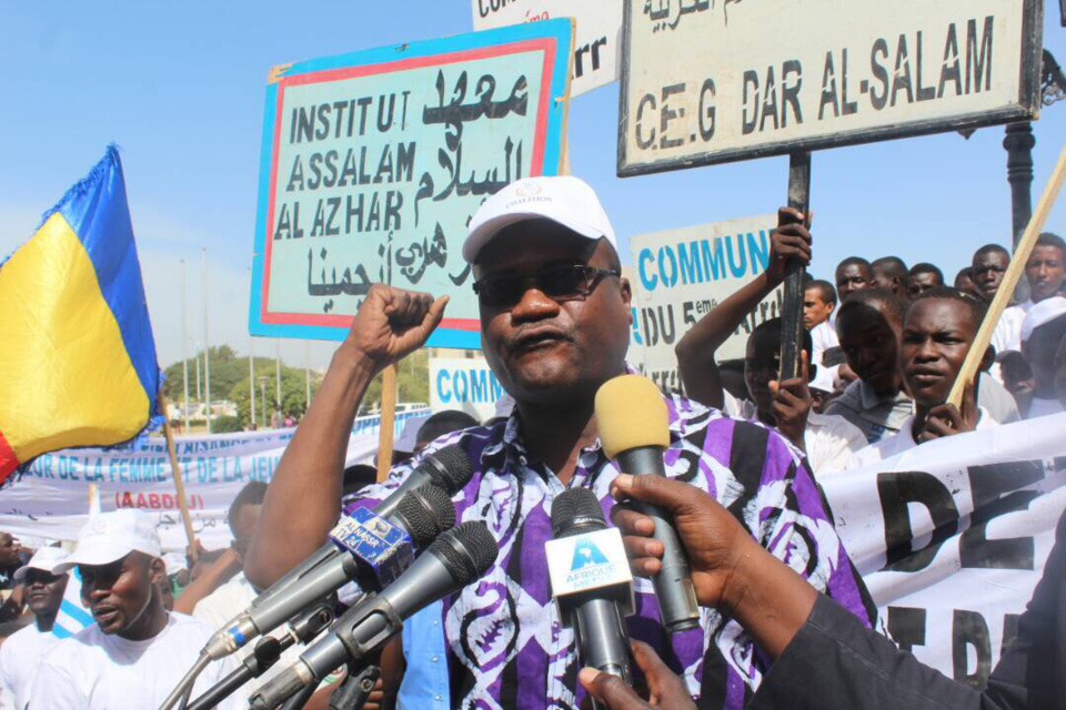 Le président de la Coalition Touche Pas À Mes Acquis, Mahamat Digadimbaye. Alwihda Info