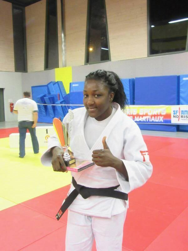 La judokate Carine Ngarlemdanan. Crédits photo : sources