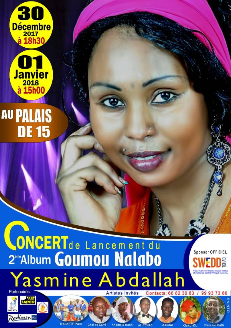 La chanteuse Yasmine au Palais du 15 le 30