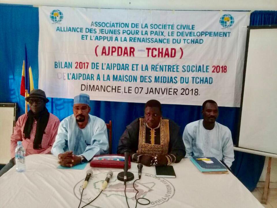 Le président de l'Alliance des Jeunes pour la Paix, le Développement et l'Appui à la Renaissance du Tchad du Tchad (AJPDAR-Tchad), Mahamat El-Mahadi Abdramane. Alwihda Info