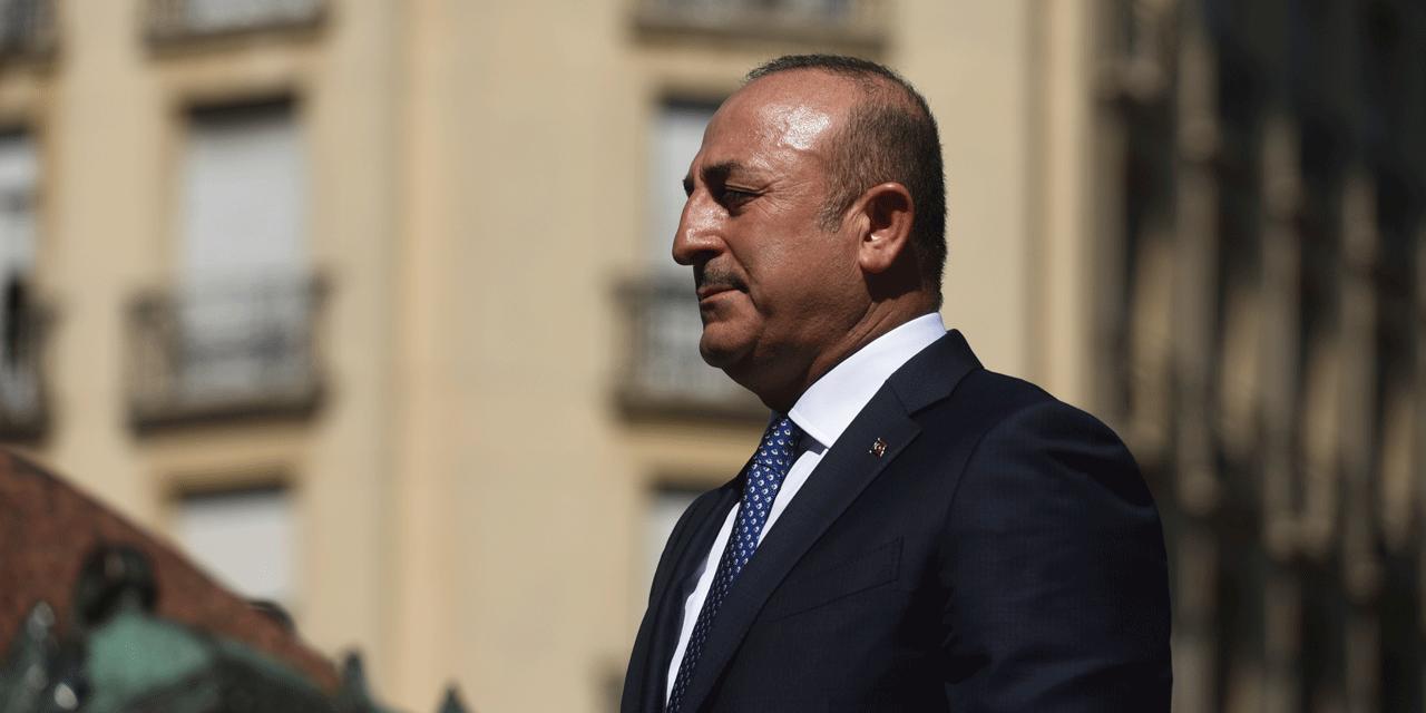 Le chef de la diplomatie turc. @ EITAN ABRAMOVICH / AFP