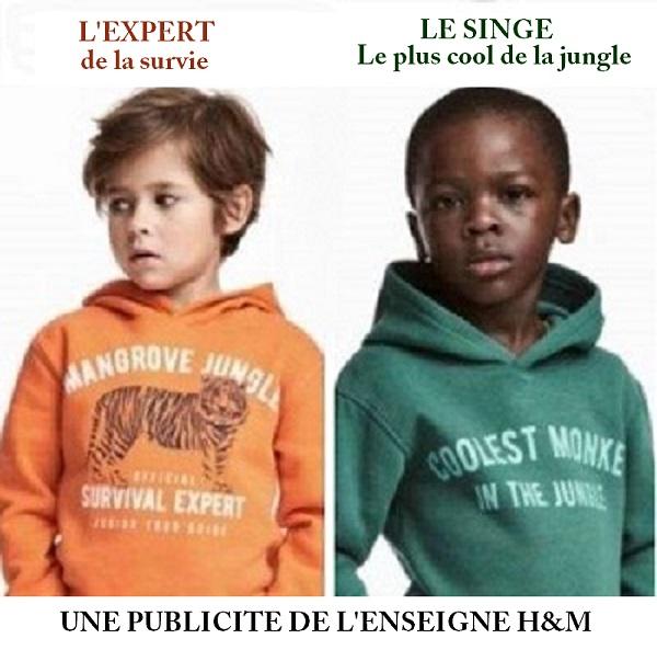H & M : Le Noir est-il un singe ?