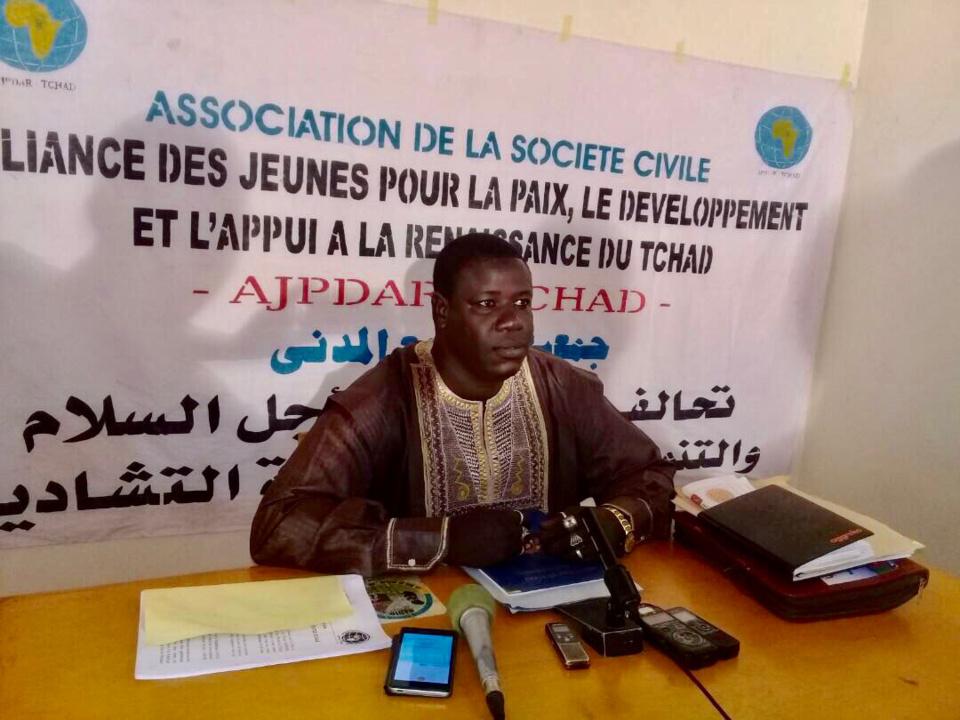 Le président de l'Alliance des Jeunes pour la Paix, le Développement et l'Appui à la Renaissance (AJPDAR-Tchad), Mahamat El-Mahadi Abderamane. Alwihda Info