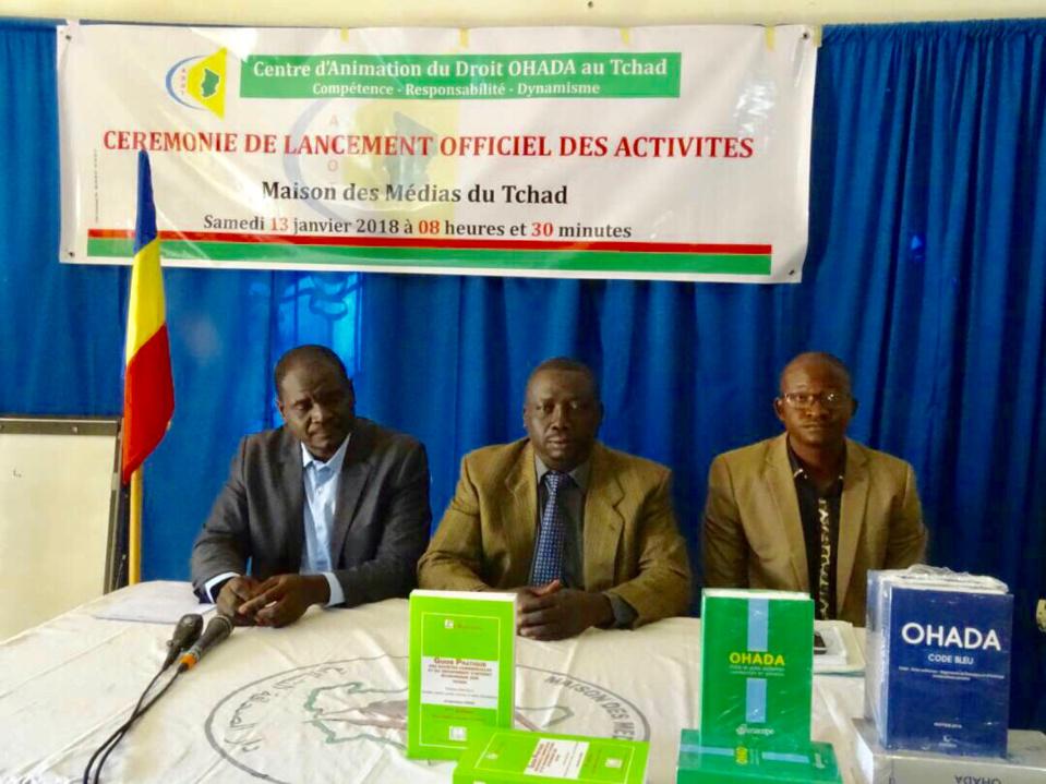 Le Centre d'Animation du Droit OHADA (Organisation pour l'Harmonisation en Afrique du Droit des Affaires) au Tchad a lancé ses activités ce samedi 13 janvier 2017 à la Maison des Medias du Tchad. Alwihda Info