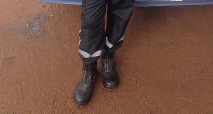 Un uniforme de gardien de sécurité privée. Crédits photo : réservés