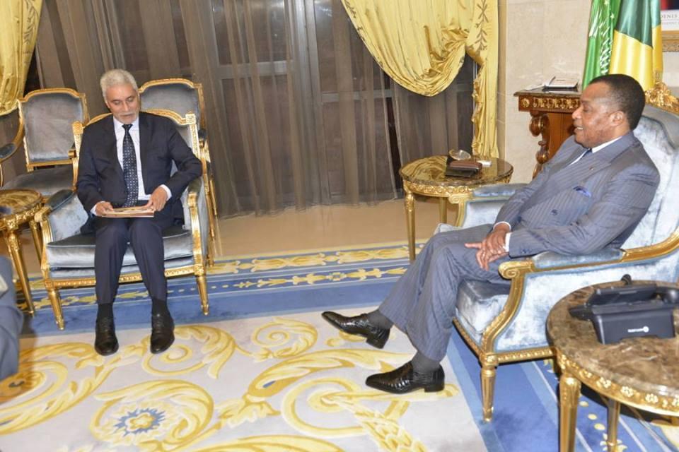 Denis Sassou N'Guesso et Mohamed El Hacen Lebatt.