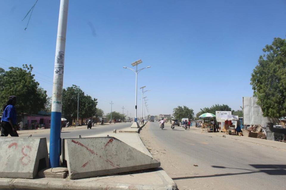 Une rue déserte ce lundi à N'Djamena. Alwihda Info