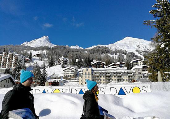 The View of Davos where the 2018 World Economic Forum is held from January 23 to 26. (Photo: CFP)