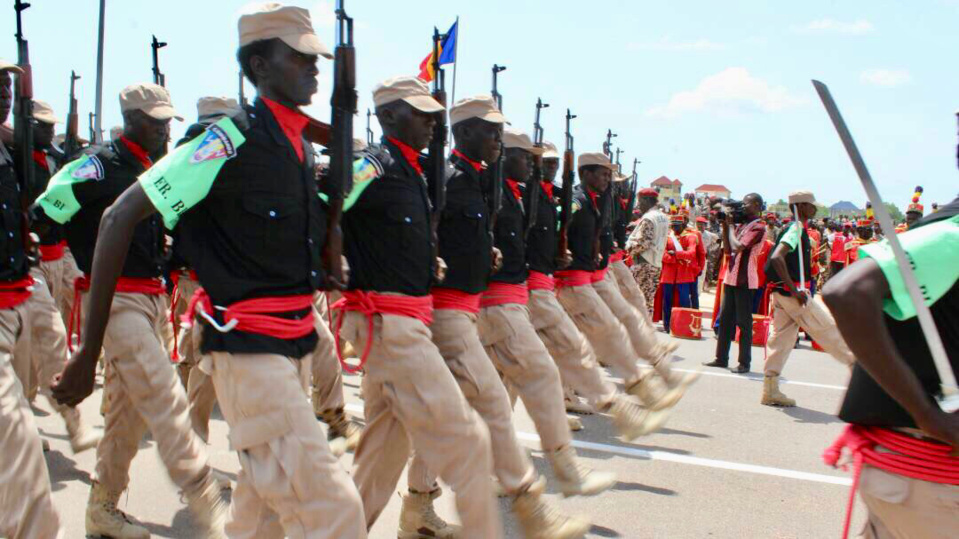 Des éléments du corps de la douane lors d'un défilé. AlWihda Info