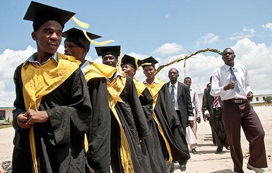 Graduation ceremony at a secondary school in Tanzania.Photo:Jonathan Kalan