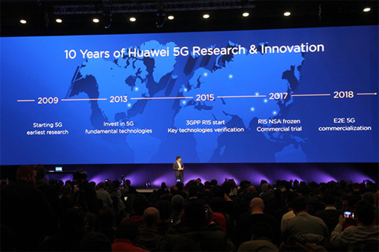 Huawei revealed its latest 5G devices in Barcelona, Spain on February 25, 2018. (Photo: Jiang Bo & Zhao Yongxin)