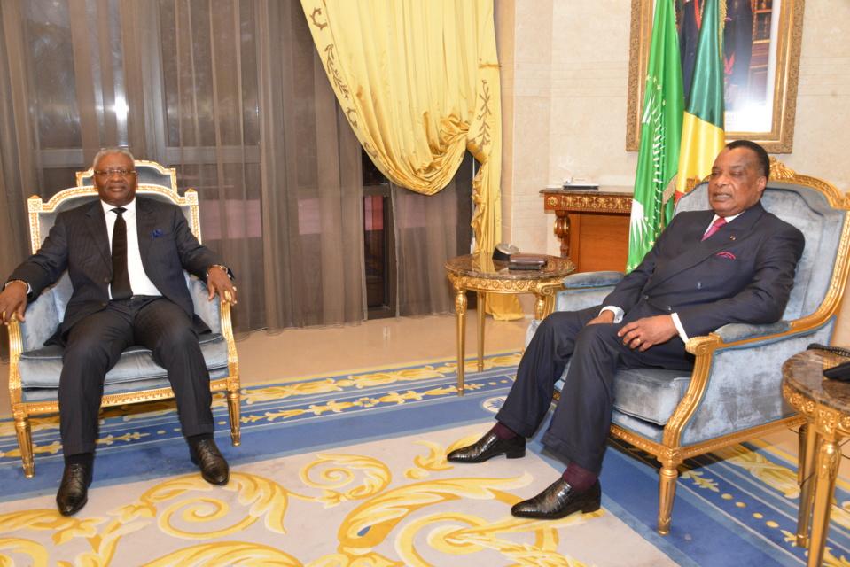 Sassou N'Guesso et Tsaty Mabiala
