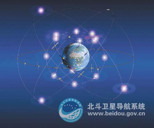 Design sketch on global constellation of BeiDou Navigation Satellite System. (Photo: beidou.gov.cn)