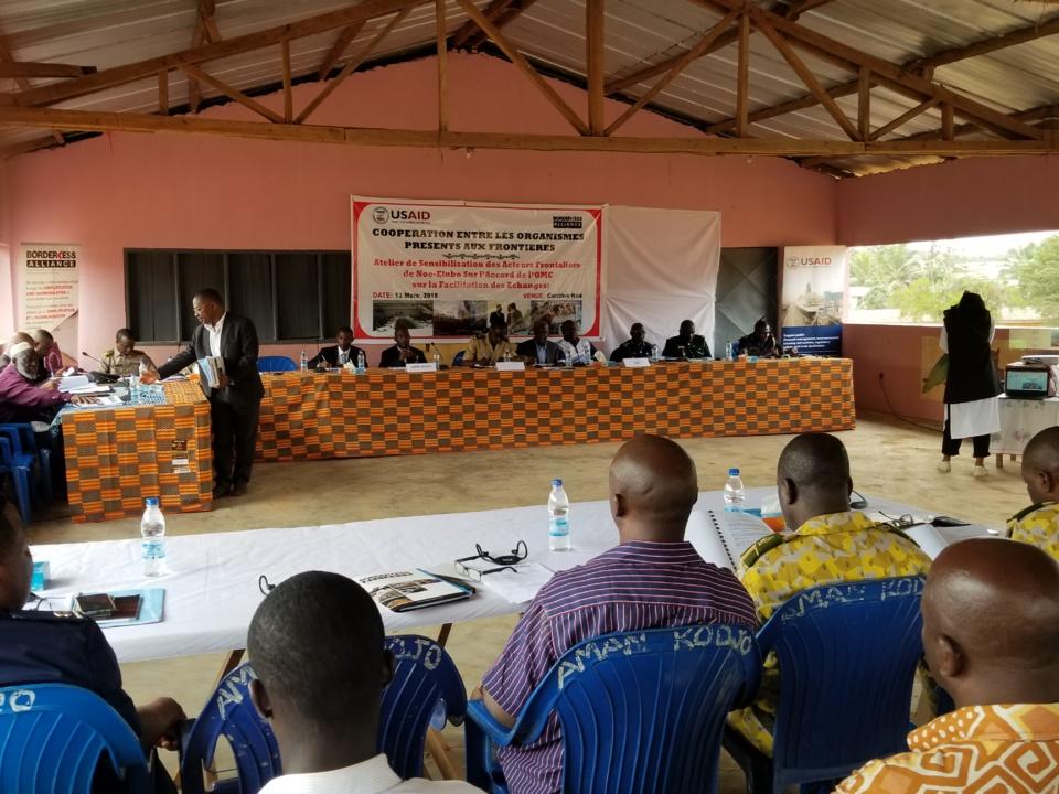 Côte d'Ivoire : Les douaniers et transitaires à la frontière avec le Ghana formés à la facilitation du commerce