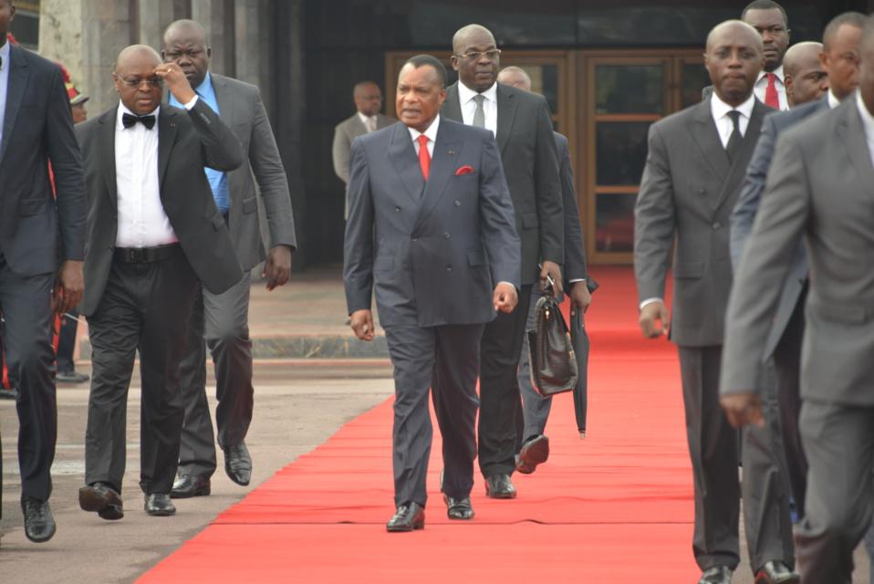 Départ du président, Denis Sassou N'Guesso à Johannesburg en Afrique du Sud