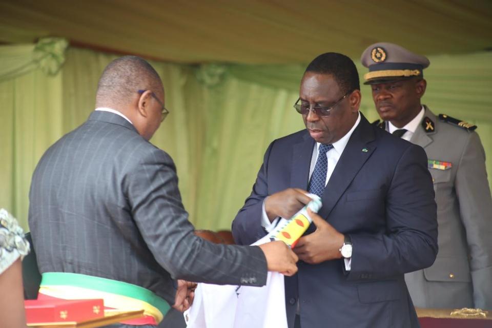 Le président Makysall et le maire de Brazzaville, Roger Okemba