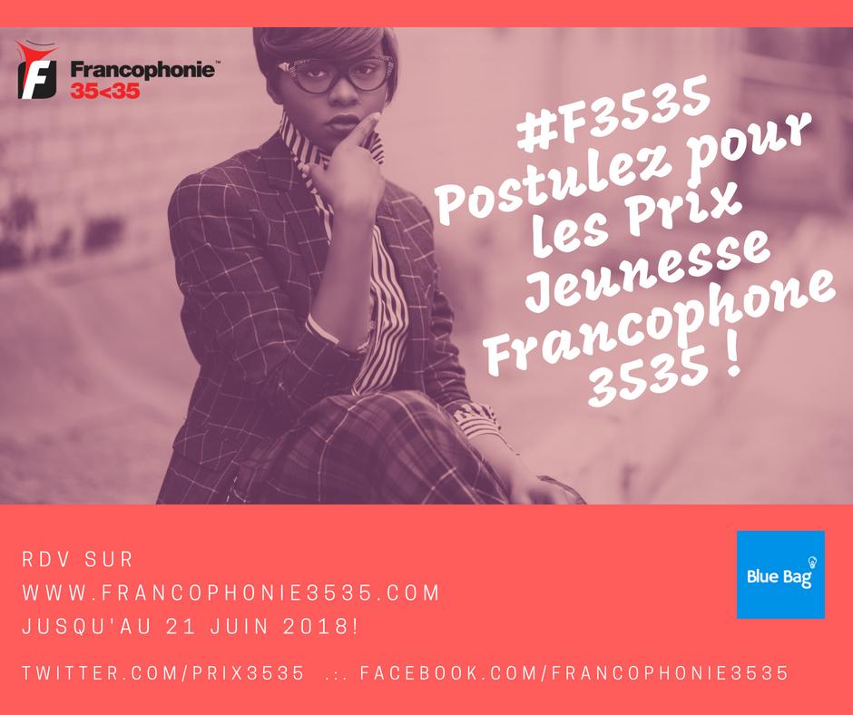 La 3ème édition des Prix Jeunesse Francophone 3535 officiellement lancée !