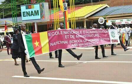 Pour la quatrième fois de son existence, l'ENAM a défilé au boulevrad du 20 mai à Yaoundé.