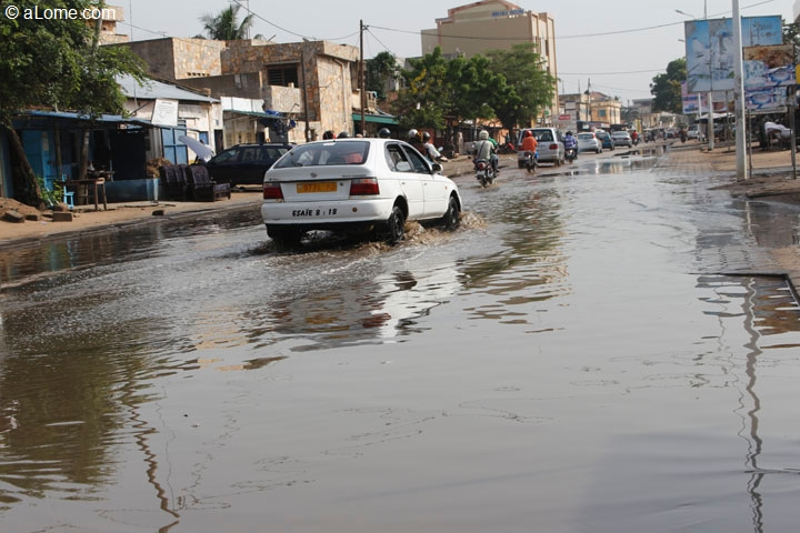 Des inondations à Lomé en février 2018. Crédits photo : aLome