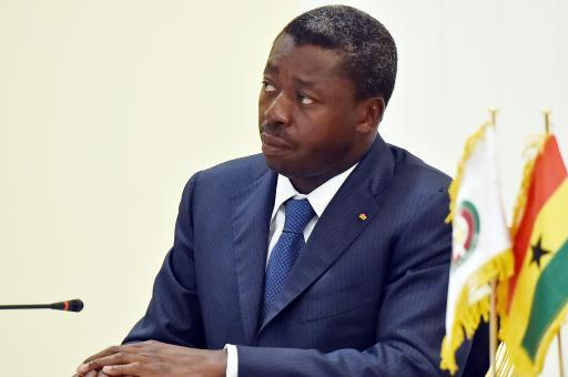 Le président togolais Faure Gnassingbé à Lome le 28 avril 2015. Crédits : DR