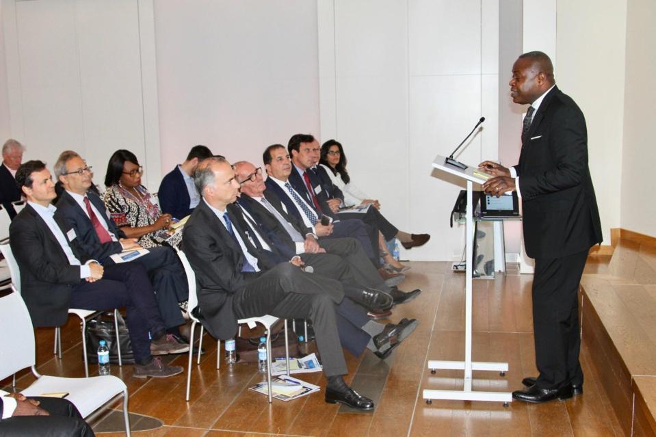 Léon Juste Ibombo, au cours de son exposé