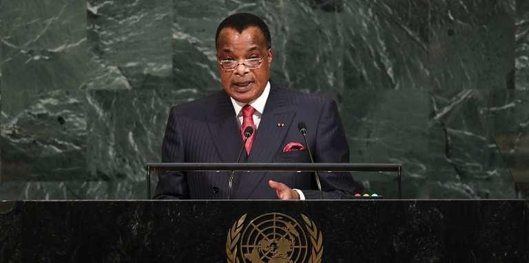 Denis Sassou N'Guesso à la tribune des Nations Unies ( Photo d'archives)