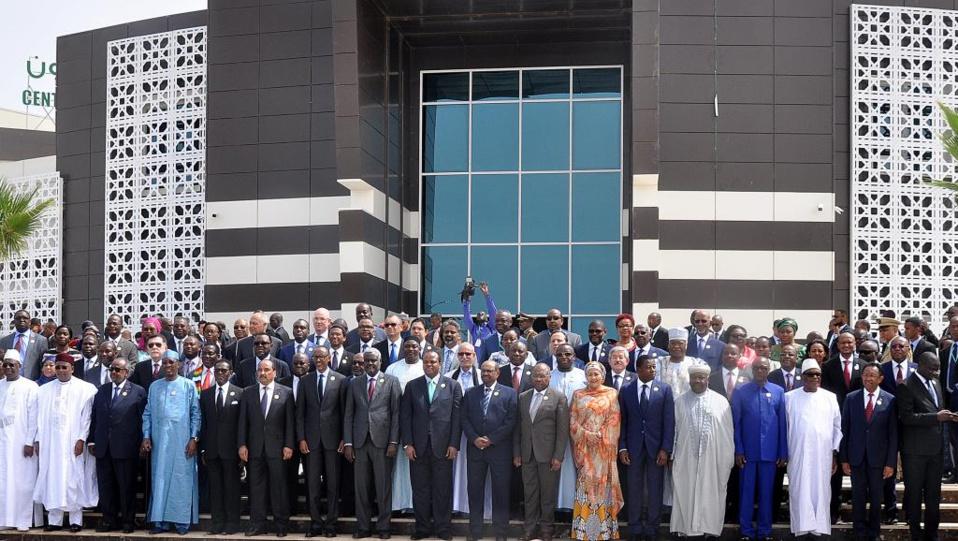 Photo de famille des chefs d'Etat et de gouvernement à Nouakchott ( RFI)