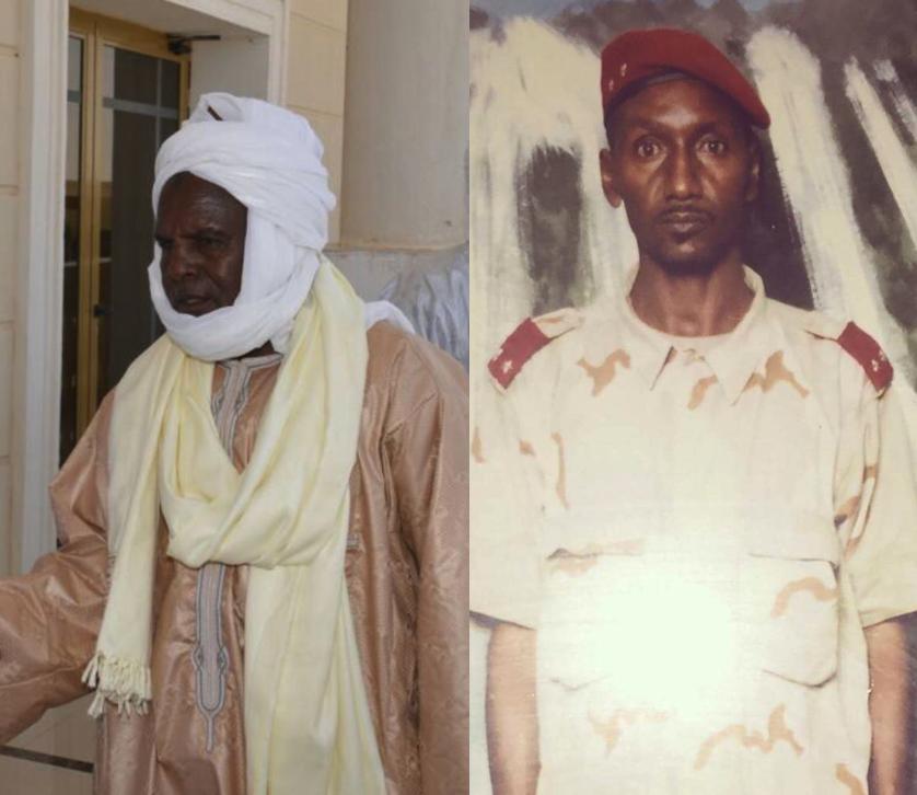 Le chef de canton Mourdia, Oumar Chidi Sougoumi (gauche) et le chef de canton Haouda, Général Mahamat Abdallah Kébir (droite).