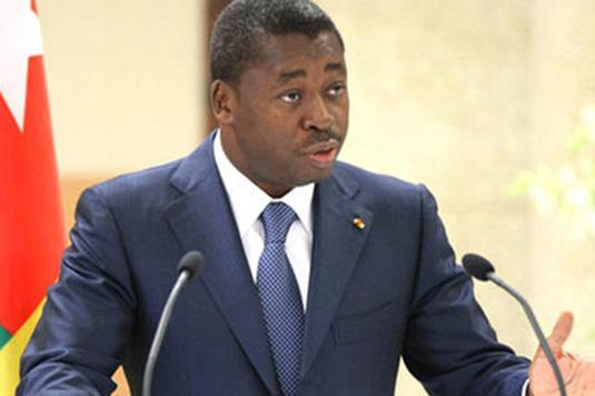 Le chef de l'Etat, Faure Essozimna Gnassingbé. Crédits photo : DR