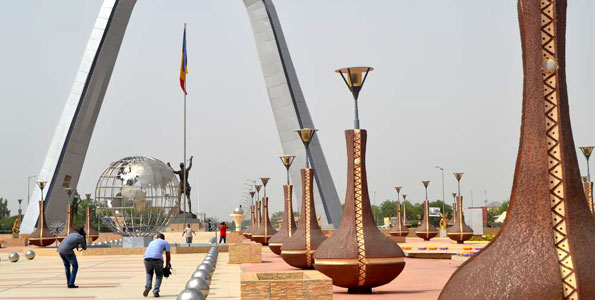 La place de la Nation à N'Djamena, Tchad. PHOTO | DICTA ASIIMWE