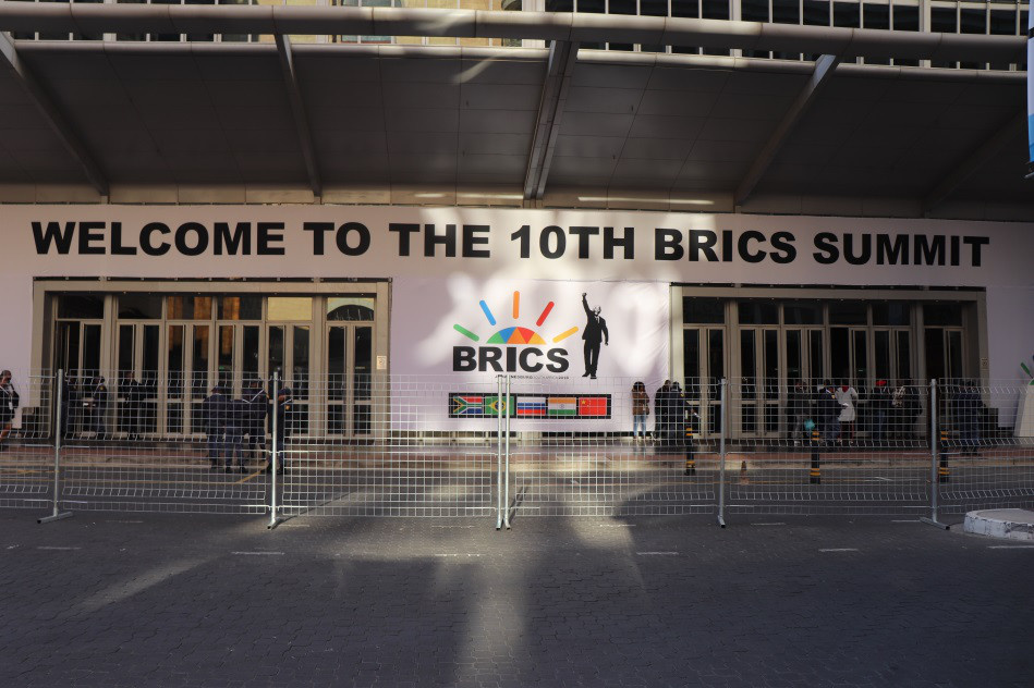 The 10th BRICS Summit was scheduled to run from Wednesday to Friday at the Sandton Convention Center in Johannesburg, South Africa. Photo by Liu lingling from People's Daily