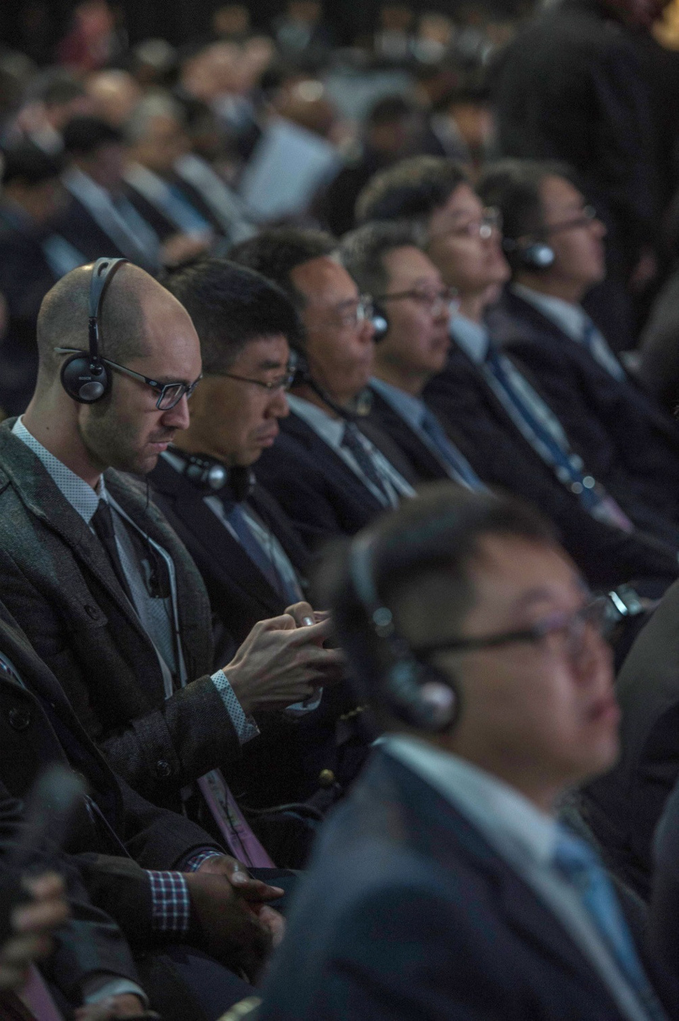 BRICS delegates listen to South African Trade and Industry Minister on the first day of the 10th BRICS summit at Sandton Convention Center, in Sandton district of Johannesburg on July 25, 2018. (Photo: VCG)