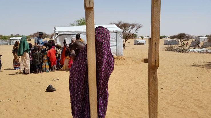 Le camp de réfugiés de Dar Es Salaam au Tchad• Crédits : Valérie Crova Radio France