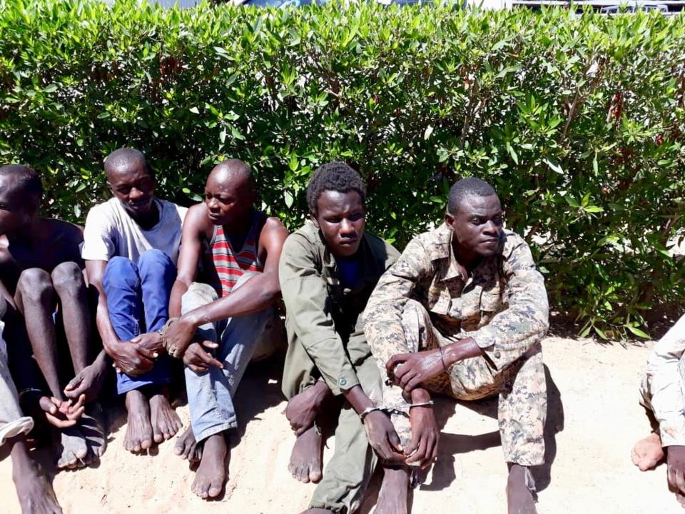 Des malfaiteurs présentés par la police ce mardi 7 août 2018 à la direction de la police, N'Djamena. Crédits : Alwihda Info