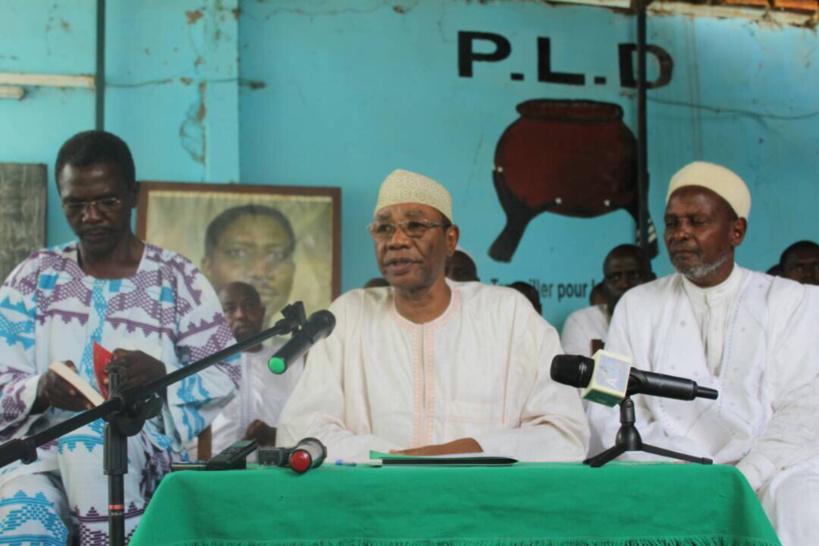 Le secrétaire général du PLD (au milieu), Mahamat Ahmad Alhabo. Alwihda Info