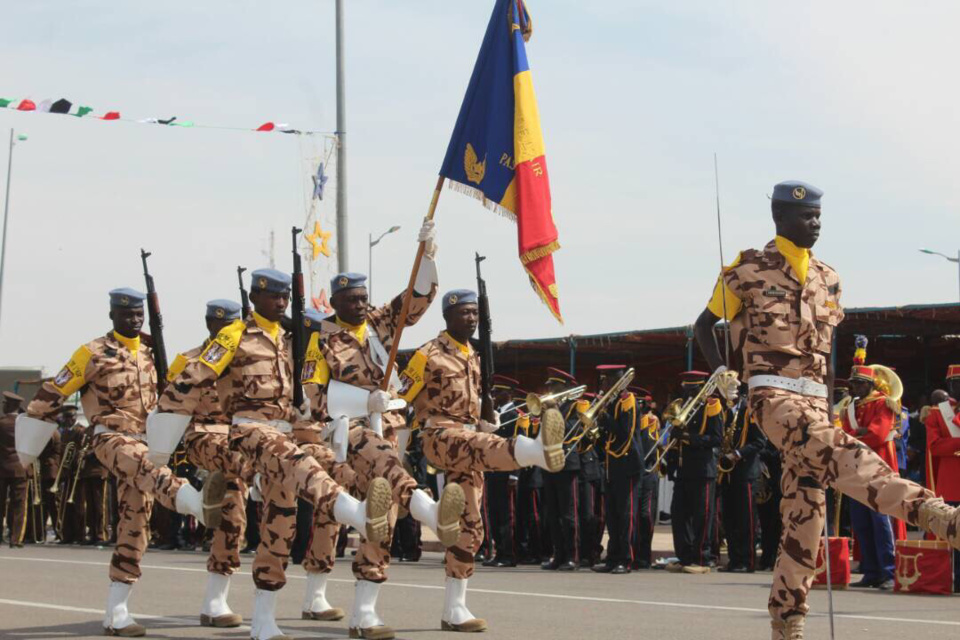 L'armée tchadienne lors d'un défilé à la Place de la nation. Alwihda Info/D.W.