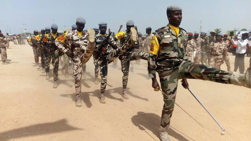 Des militaires tchadiens lors d'un défilé. Alwihda Info/D.H.