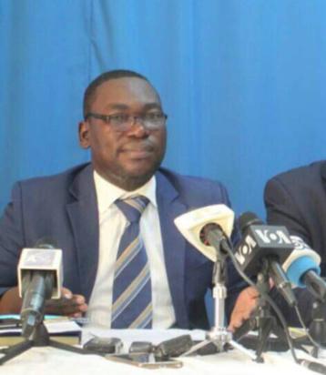 Maitre Alain Kagonbé, avocat de la défense des 4 coaccusés du meurtre d'une commerçante chinoise. Alwihda Info/archives.