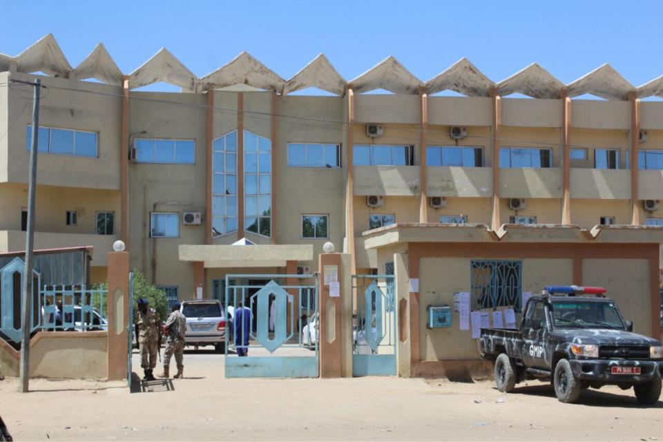 L'entrée du Palais de justice à N'Djamena. Alwihda Info/archives