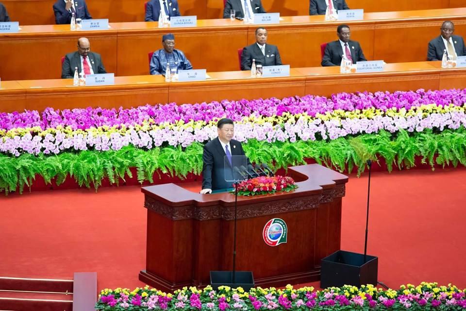 Le président Xi Jinping, à l'ouverture du 3ème forum de coopération Chine-Afrique.