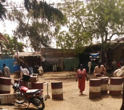 Une entrée du marché à mil de N'Djamena. Alwihda Info/archives