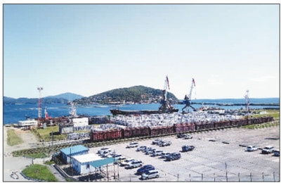 Photo shows the Zarubino port, Russia. (Photo by Wang Junling from People's Daily Overseas Edition)
