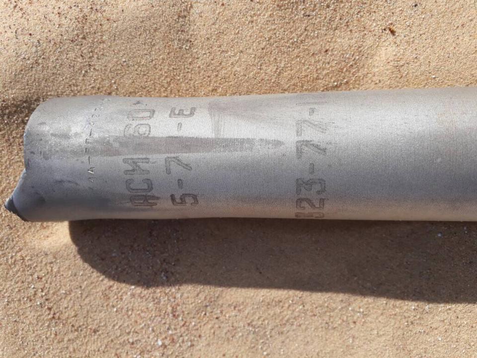 Des débris des missiles tirés par des hélicoptères de combat de l'armée tchadienne dans le nord. Alwihda Info