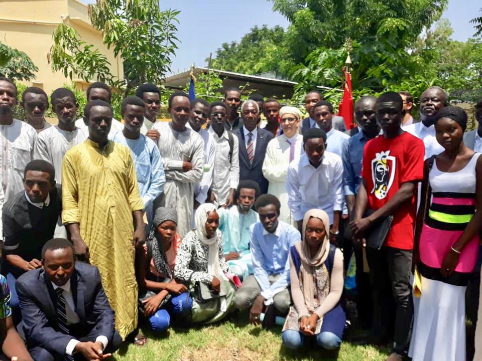 Cérémonie de rencontre et de prise de contact avec 70 nouveaux étudiants tchadiens bénéficiaires d'une bourse d'étude du Maroc. Alwihda Info/D.W.