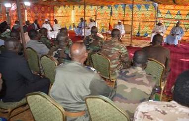 Rencontre du chef de l'Etat avec les autorités civiles et militaires de Sarh, ce jeudi 4 octobre 2018.