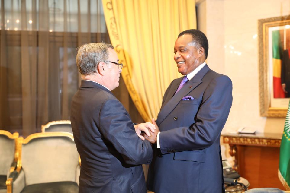 Denis Sassou N'Guesso et Manuel Serrano Acosta.