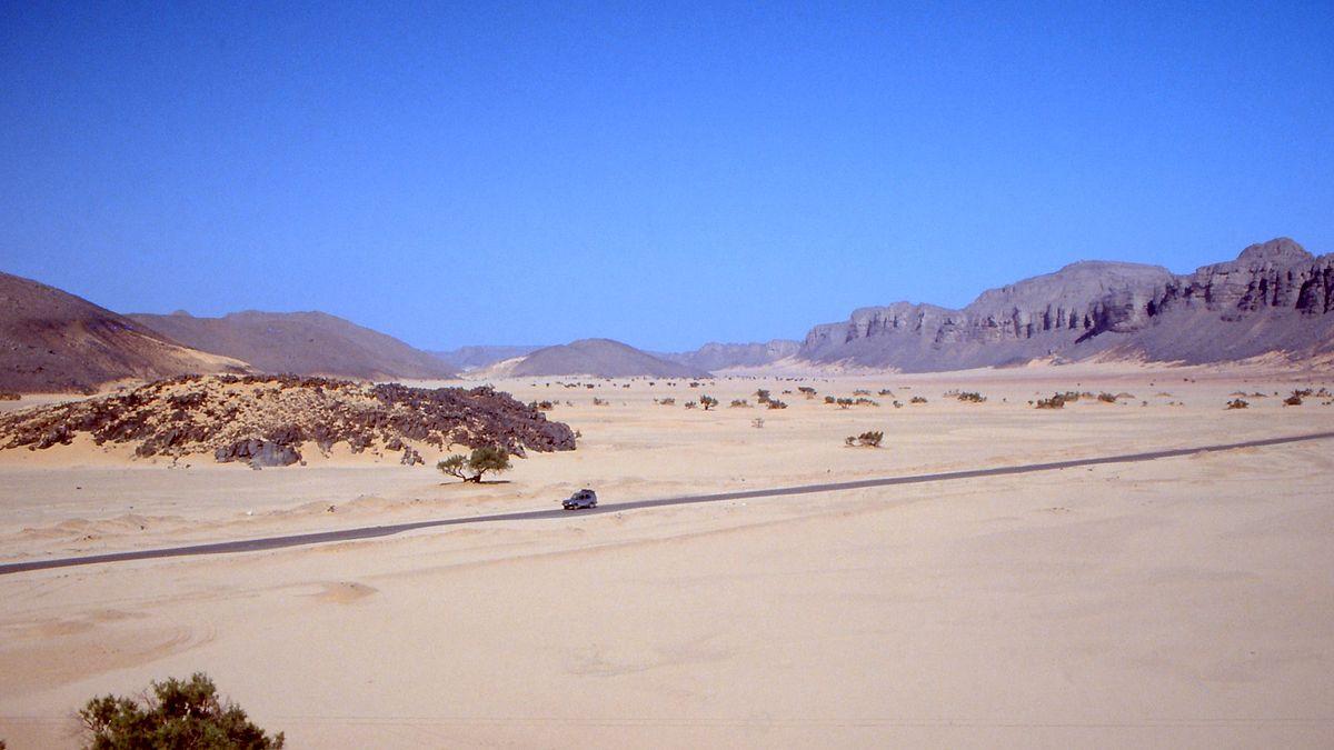 La route transsaharienne. Crédits : DR